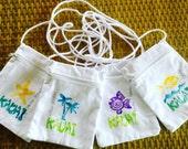 Hawaii Gift - Cotton Purse  - Cross body Bag -  Hawaii Purse - Kauai Hawaii Bag -  Woman Girl Gift