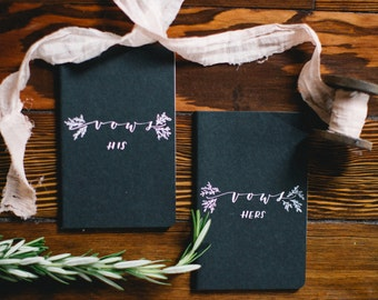Calligraphy Vow Booklets