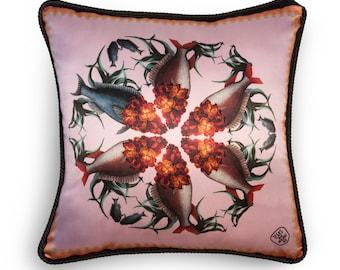 High Quality Silk and Velvet cushion