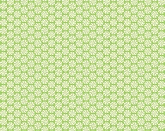 Green Peppermint Swirls Flannel, Home for the Holidays by Doodle Bug Designs for Riley Blake, 1 yard