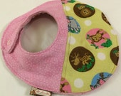 Minky Baby Bib with Quilted Flannel Fabric and Absorbent Cotton Batting