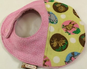 Minky Baby Bib with Quilted Flannel and Cotton Batting (Ready to Ship)