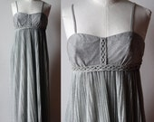 VTG French evening bustier dress, silver lamé Single model