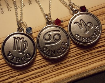 Zodiac Birthstone Necklace