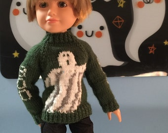 Ghoulish Halloween Sweater for Large BFC Doll