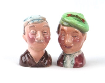 Best Pals - Mid Century Salt and Pepper Shakers - Vintage Home Kitchen Decor