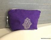 Moroccan Suede Beauty Cosmetic Bag