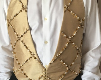 Jeweled & Beaded Tuxedo Vest #5