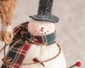 Snowman in Vintage Zinc Lid