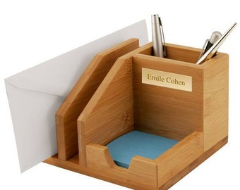 Customized Bamboo Desktop Organizer