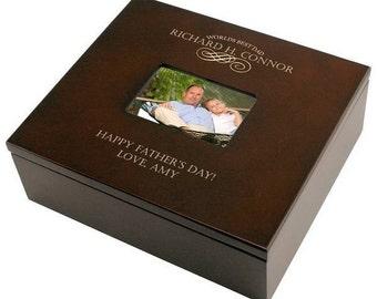 Engraved World's Best Dad Wooden Keepsake Box