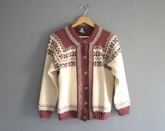 Women's Nordic Wool Cardigan M-L