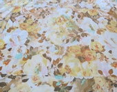 Vintage Sheets - Watercolor Peach Rose - 3 Piece Twin or Single Sheet Set