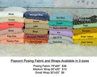 "SALE 59""x59"""" POPCORN Textured Posing Fabric, newborn photography, 20 colors, new popular wrap"