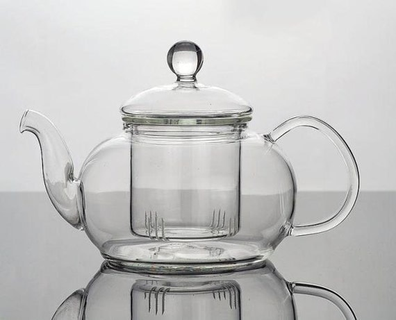 glass teapot self infuse loose leaf tea gift large friends fun. Black Bedroom Furniture Sets. Home Design Ideas
