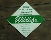 One sided WILDLIFE Trout - no lure restriction FISHING sign