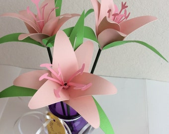 Lilies/Paper Flowers/Mother's Day/Birthday/Gifts