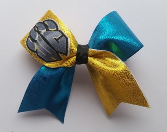 Logo Design Cheer Bow Key Chain