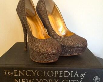 1970's Glitter Heels-Size 6