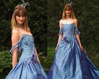 Fairy Tale Corseted Ball or Alternative Wedding Gown - Andromeda