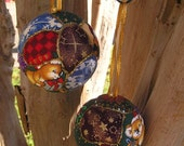 Christmas Tree Ornaments Pair Unique Handmade Christmas keepsake Baubles in various Christmas themed materials