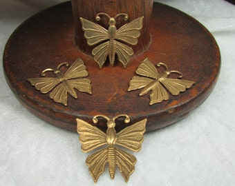 Raw brass butterfly stampings