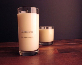 Lemon Soy Candle | 15 oz | 100% Natural