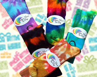 Tie-Dye Bamboo Socks for Kids or Adults - Any Colors You Want!