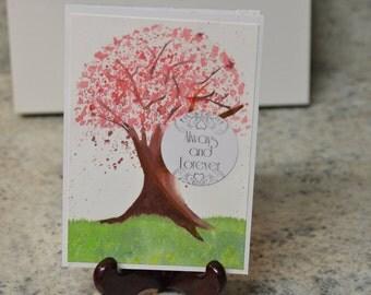 Cherry Blossom - Sakura Watercolor card