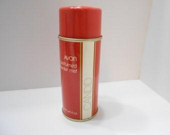 Vintage Avon Candid Perfumed Powder Mist (9) 4 oz.
