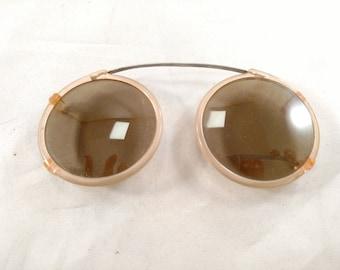 Older Vintage Clip on Sunglasses, Mint Condition