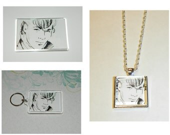 A-Ha Aha Take On Me Glass Pendant Necklace Magnet and/ or Keychain