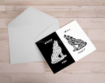 Two Wolves Greeting Card | 5x7 Greeting Card | The One You Feed Greeting cards | Note card