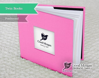 Twins Baby Memory Book - Pink