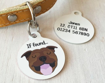 Dog ID Tag Personalised Dog Breed - Pet Tag - Pet ID Tag - Dog ID Tags