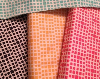 DESTASH Fabric -  Bundle of Four Fat Quarters of Squared Elements by Art Gallery Fabrics