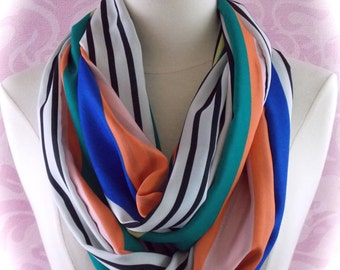 Colorful striped scarf/summer scarf/spring scarf