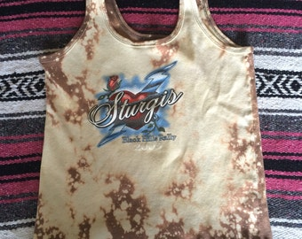 Distressed Sturgis Bleached Tank Top