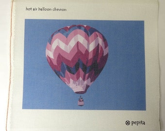 Imperfect Needlepoint Canvas Hot Air Balloon