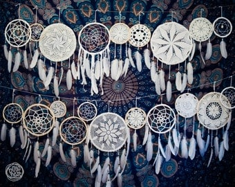 Wedding Decoration Dream Catchers - 10-50 piece of Dream Catchers in different sizes - Boho Decor, Tribal Wedding, Native Mobiles
