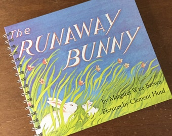 Runaway Bunny Recycled Journal Notebook