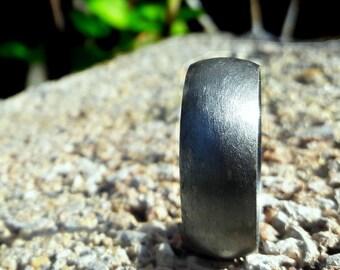 Black Silver Rings, 925 Sterling Silver Rings, Dark Silver Ring, Black Wedding Ring, Black Rings, Men's Black Silver Ring, Band Silver Ring