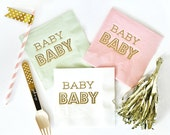 Baby Shower Napkins, OH Baby, Shower Napkins, Party Napkins, Set of 50