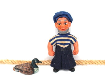 Vintage sailor doll Vintage seaman Soviet vintage sailor doll Miniature sailor Vintage mariner Gift for sailor Sailor figurine
