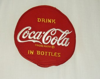 1950s Shirt / L / Bowling Shirt / 1950s Bowling Shirt / Coca Cola Shirt / Coke Shirt / King Louie / Rockabilly / Two Tone / Advertising