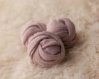 Newborn Knit Wrap, Mauve Baby Wrap, Newborn Photo Prop, Newborn Layering Fabric, Mauve Stretch Wrap, RTS