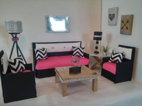 Doll Furniture For Barbie Monster High Bratz Living Room