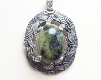 Vintage Miracle Pendant with Green Stone