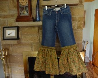 Upcycled Gap Funky Hippie Jeans size 4