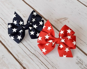 Baby Hair Bows, Patriotic Hair Bow, 4th of July Hair Bow, 3 inch Hair Bows, Pinwheel Hair Bow, Hair Bows, Hairbows, Girls Hair Bows, 300